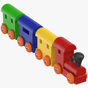 おもちゃの列車 3d model