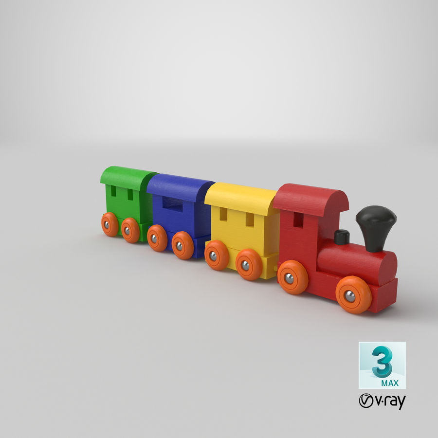玩具火车 royalty-free 3d model - Preview no. 24