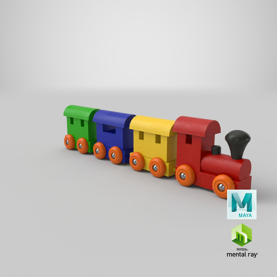 玩具火车 royalty-free 3d model - Preview no. 26