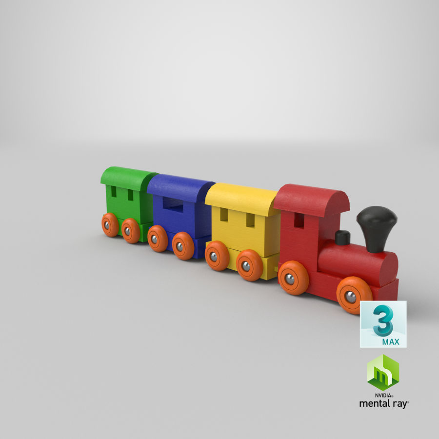 玩具火车 royalty-free 3d model - Preview no. 23