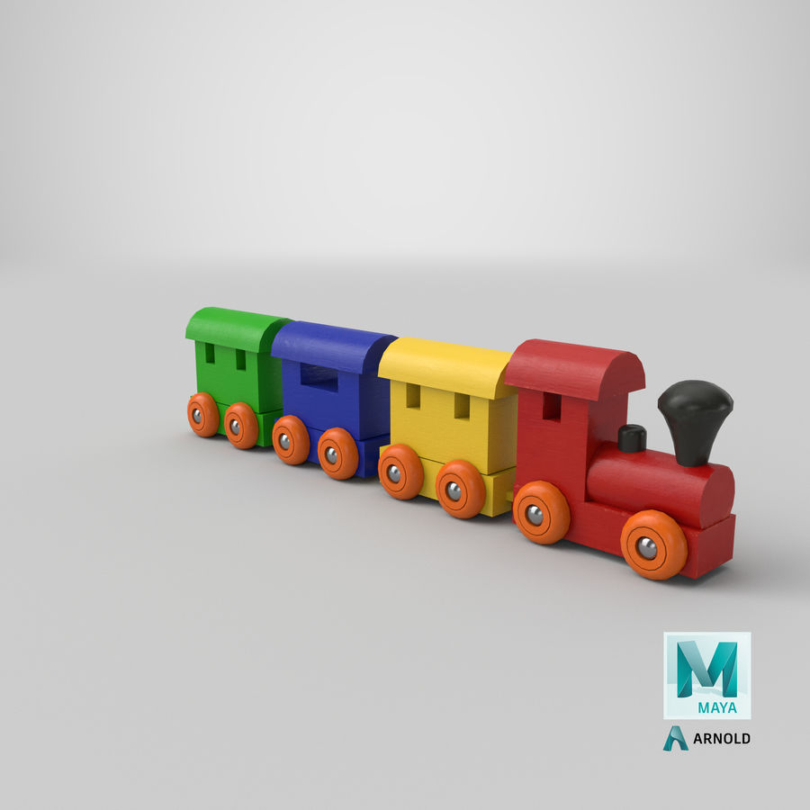 玩具火车 royalty-free 3d model - Preview no. 25