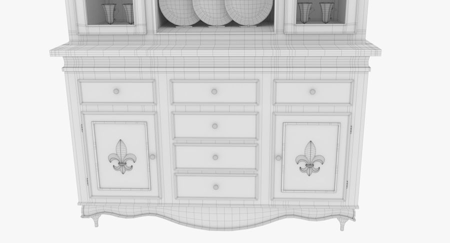 Cabinet de Chine royalty-free 3d model - Preview no. 21
