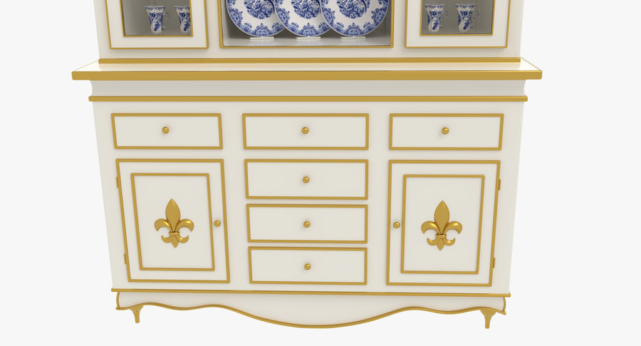 Cabinet de Chine royalty-free 3d model - Preview no. 8