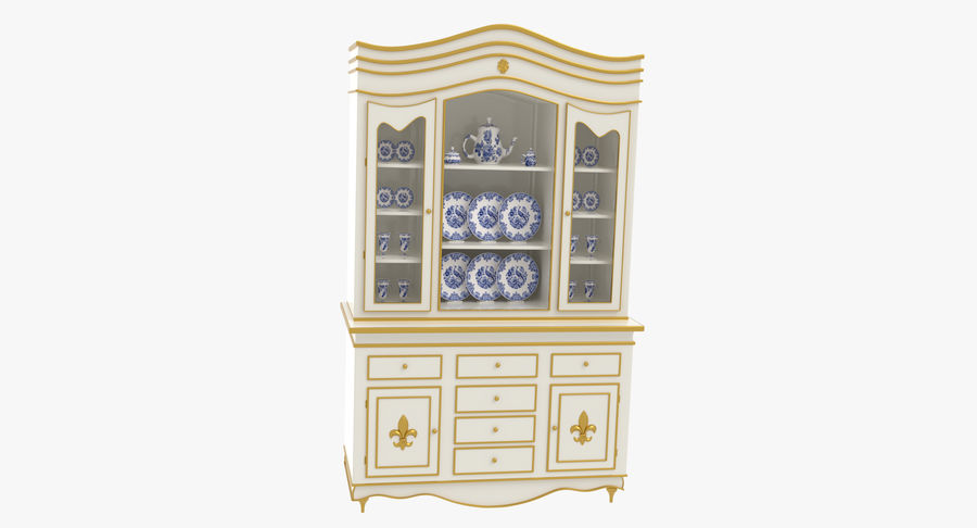 Cabinet de Chine royalty-free 3d model - Preview no. 14
