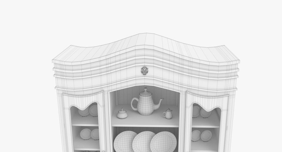 Cabinet de Chine royalty-free 3d model - Preview no. 23