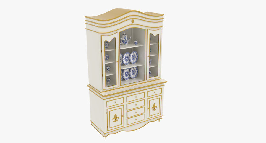 Cabinet de Chine royalty-free 3d model - Preview no. 6
