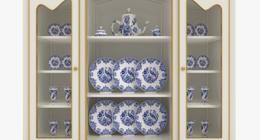 Cabinet de Chine royalty-free 3d model - Preview no. 3
