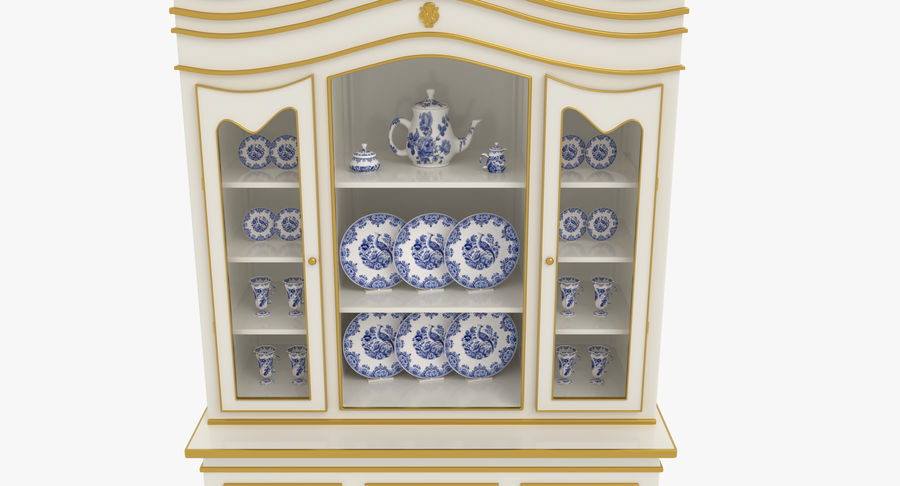Cabinet de Chine royalty-free 3d model - Preview no. 4