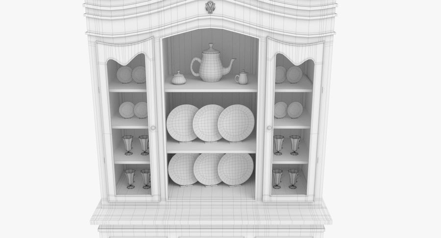 Cabinet de Chine royalty-free 3d model - Preview no. 18