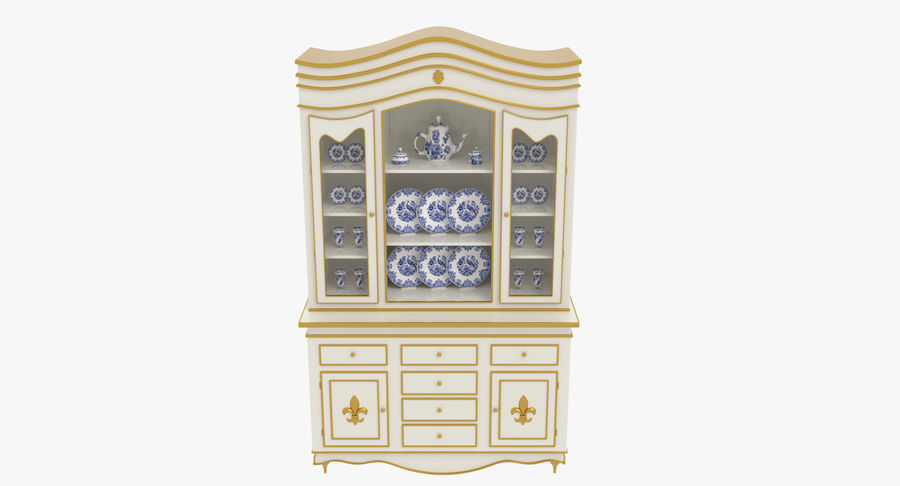 Cabinet de Chine royalty-free 3d model - Preview no. 5