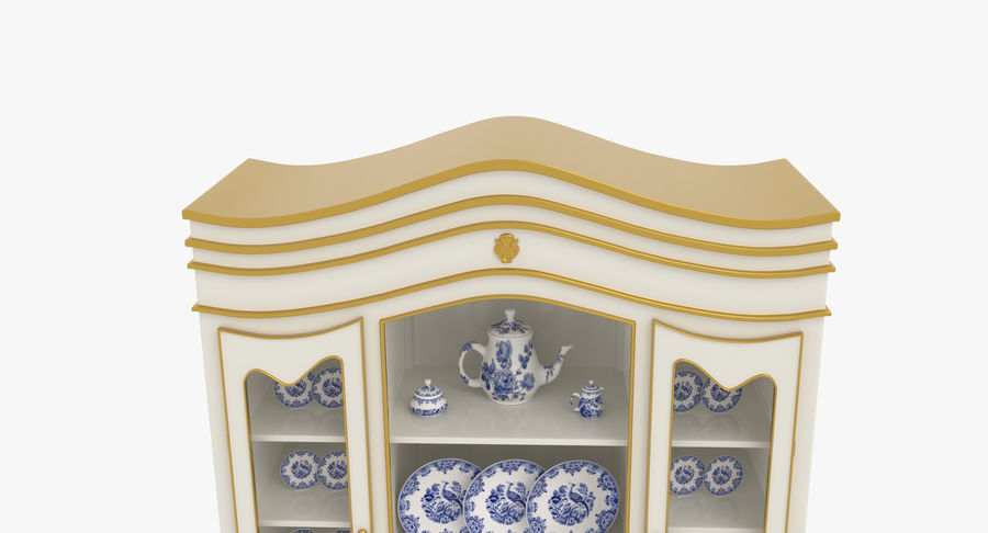 Cabinet de Chine royalty-free 3d model - Preview no. 13