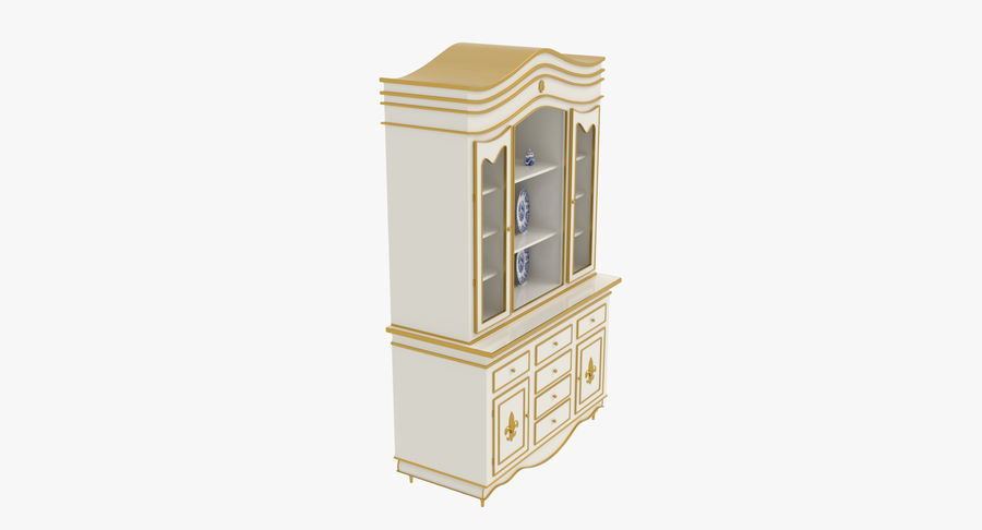 Cabinet de Chine royalty-free 3d model - Preview no. 7