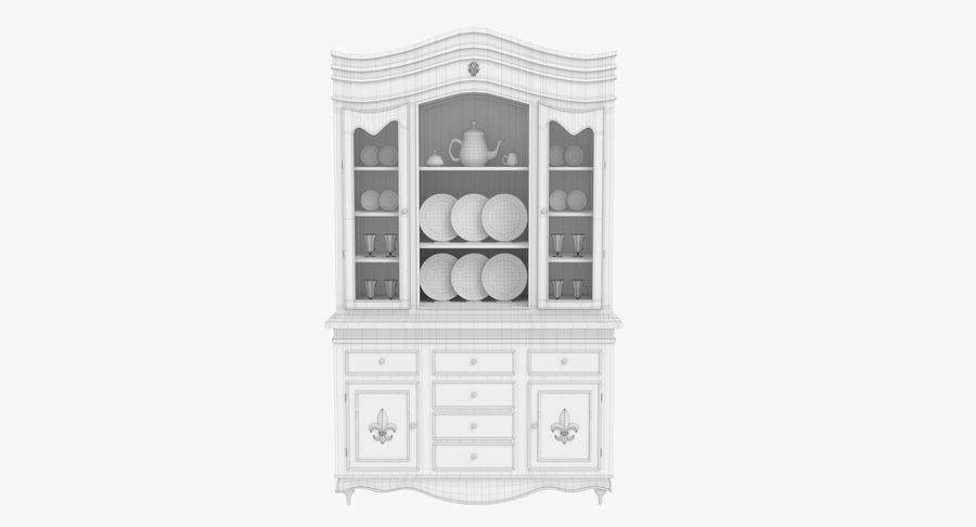 Cabinet de Chine royalty-free 3d model - Preview no. 17