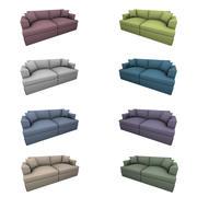 Subdividable Two Seat Sofa 3d model