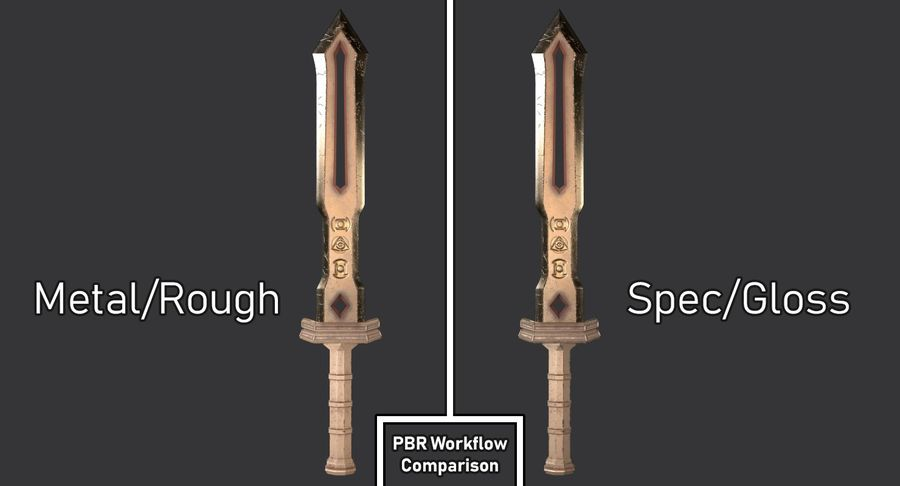Ancient Sword royalty-free 3d model - Preview no. 29