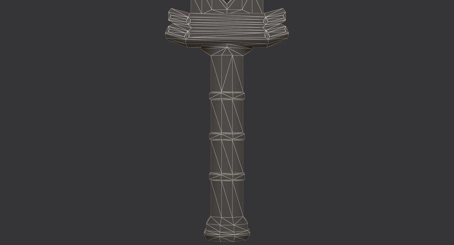 Ancient Sword royalty-free 3d model - Preview no. 26