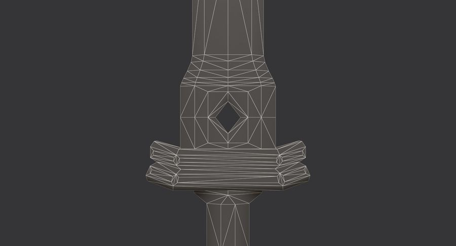 Ancient Sword royalty-free 3d model - Preview no. 25