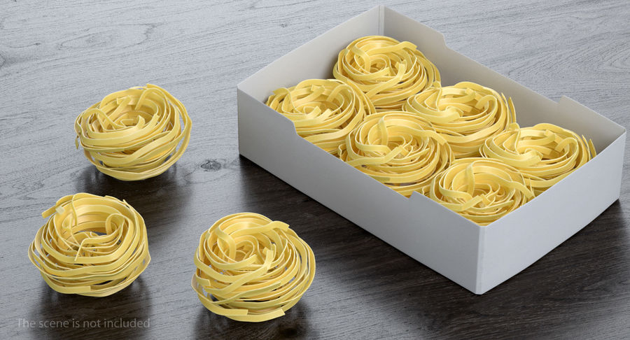Egg Pasta Nest royalty-free 3d model - Preview no. 3
