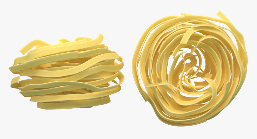 Egg Pasta Nest royalty-free 3d model - Preview no. 6