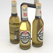 啤酒瓶贝克金500毫升 3d model