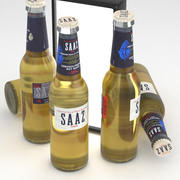 Ölflaska SAAZ Damm 330ml 3d model