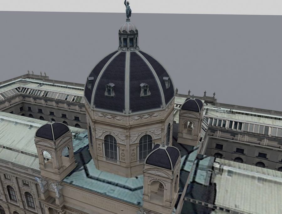 Museo de historia natural, Viena royalty-free modelo 3d - Preview no. 4