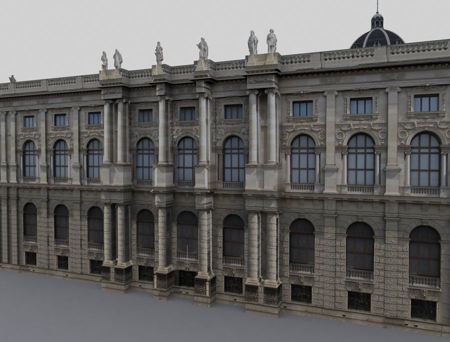 Museo de historia natural, Viena royalty-free modelo 3d - Preview no. 2