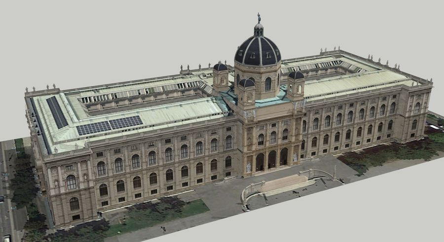 Museo de historia natural, Viena royalty-free modelo 3d - Preview no. 1