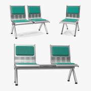 Metal Waiting Chairs 3D Models Collection 3d model
