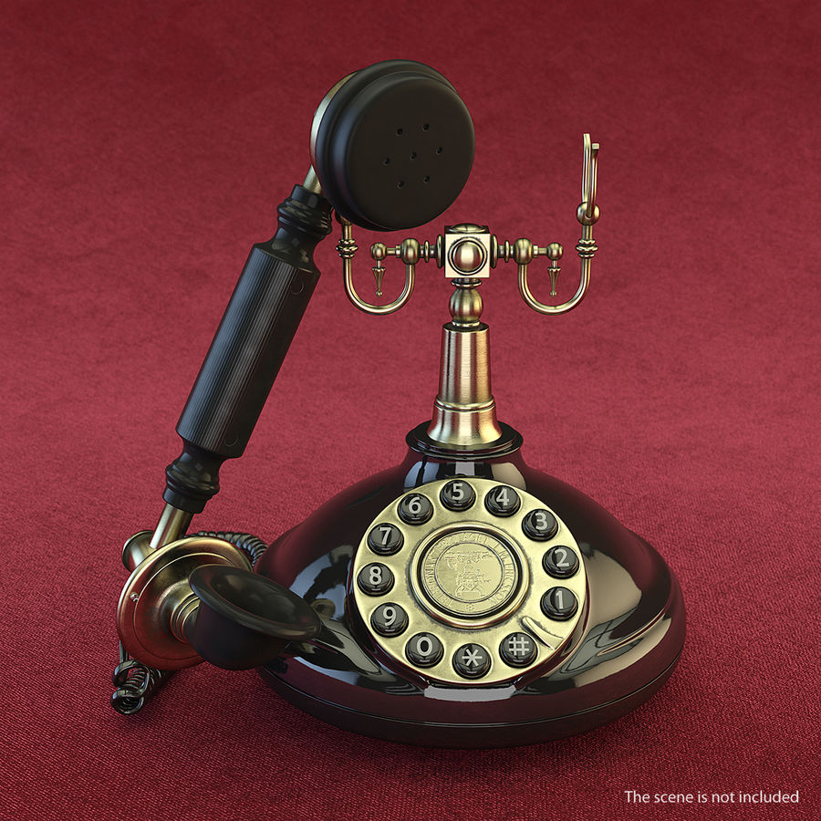 Retro Telefon Alıcısı 3D Model royalty-free 3d model - Preview no. 3