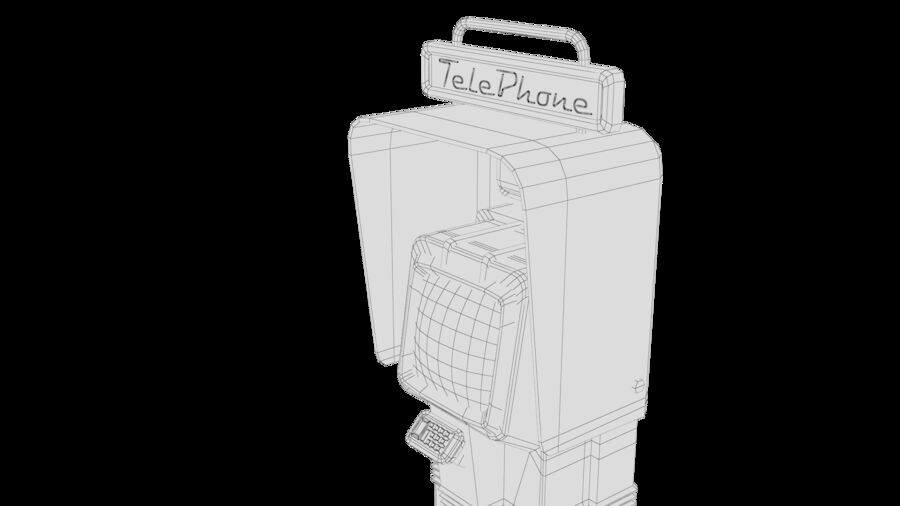 Telefone royalty-free 3d model - Preview no. 26