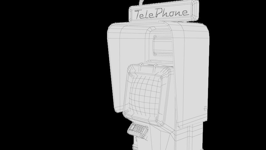 Telefone royalty-free 3d model - Preview no. 23