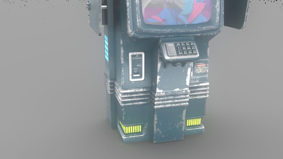 Telefone royalty-free 3d model - Preview no. 5