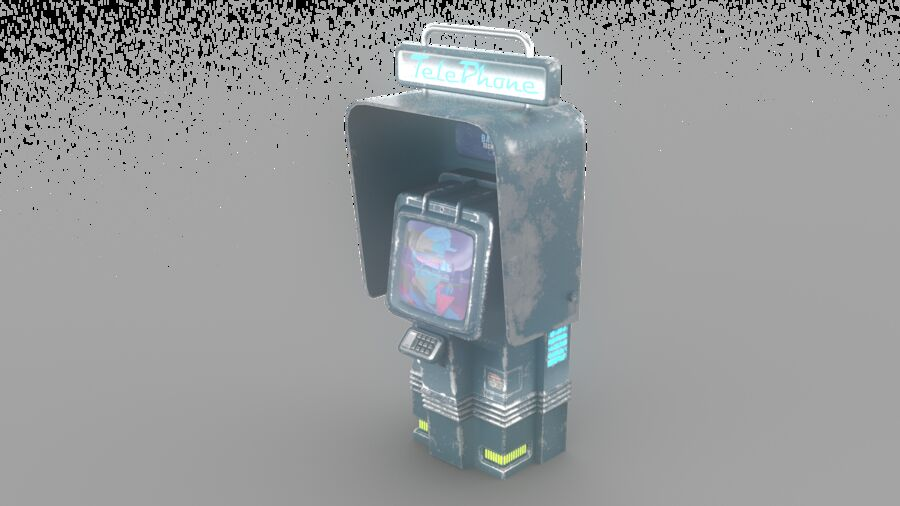 Telefone royalty-free 3d model - Preview no. 13