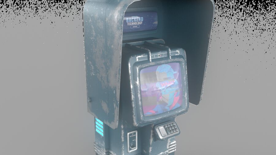Telefone royalty-free 3d model - Preview no. 2
