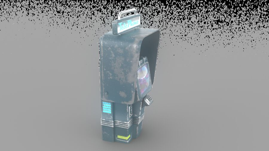 Telefone royalty-free 3d model - Preview no. 15