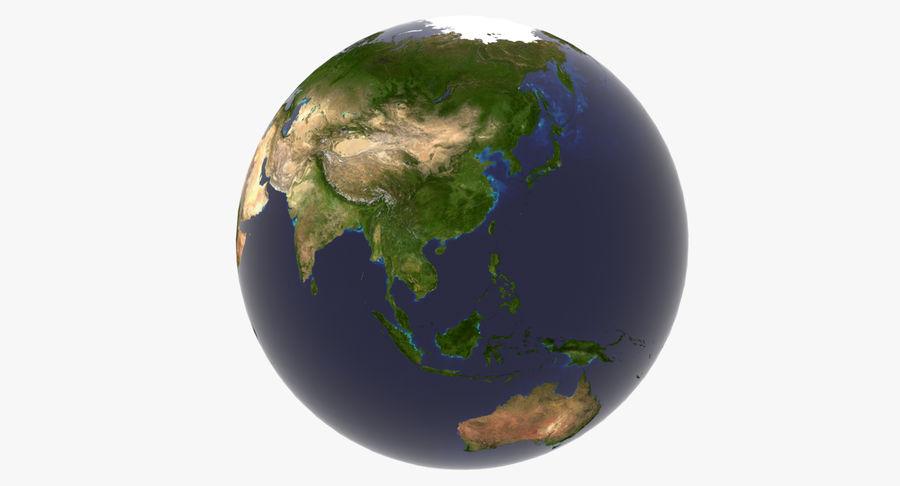 Terre (pas de nuages) royalty-free 3d model - Preview no. 5