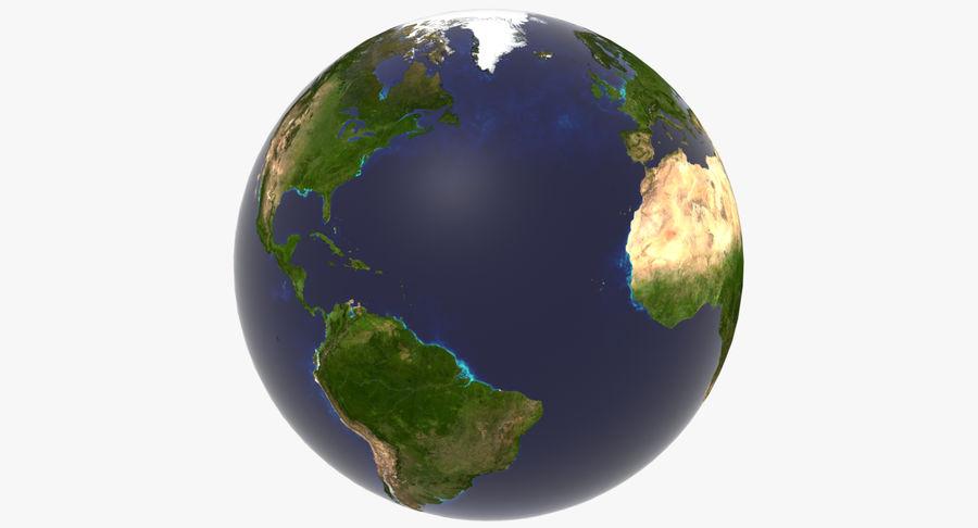 Terre (pas de nuages) royalty-free 3d model - Preview no. 7