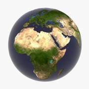 地球(雲なし) 3d model