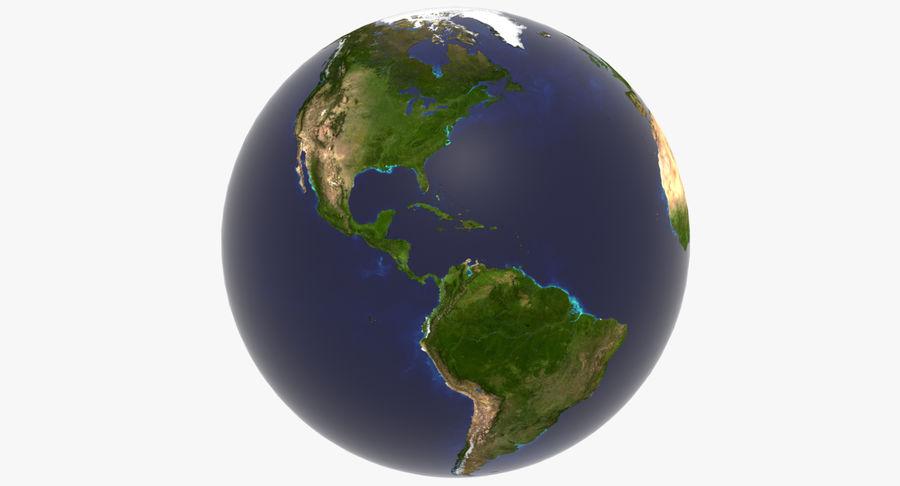 Terre (pas de nuages) royalty-free 3d model - Preview no. 9