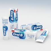 Oral-B牙膏和牙釉质修复柔和美白盒装75ml 3d model