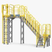 산업 강철 패션쇼 계단 3d model