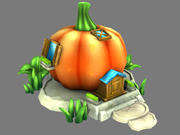 Pumpkin House 3d model