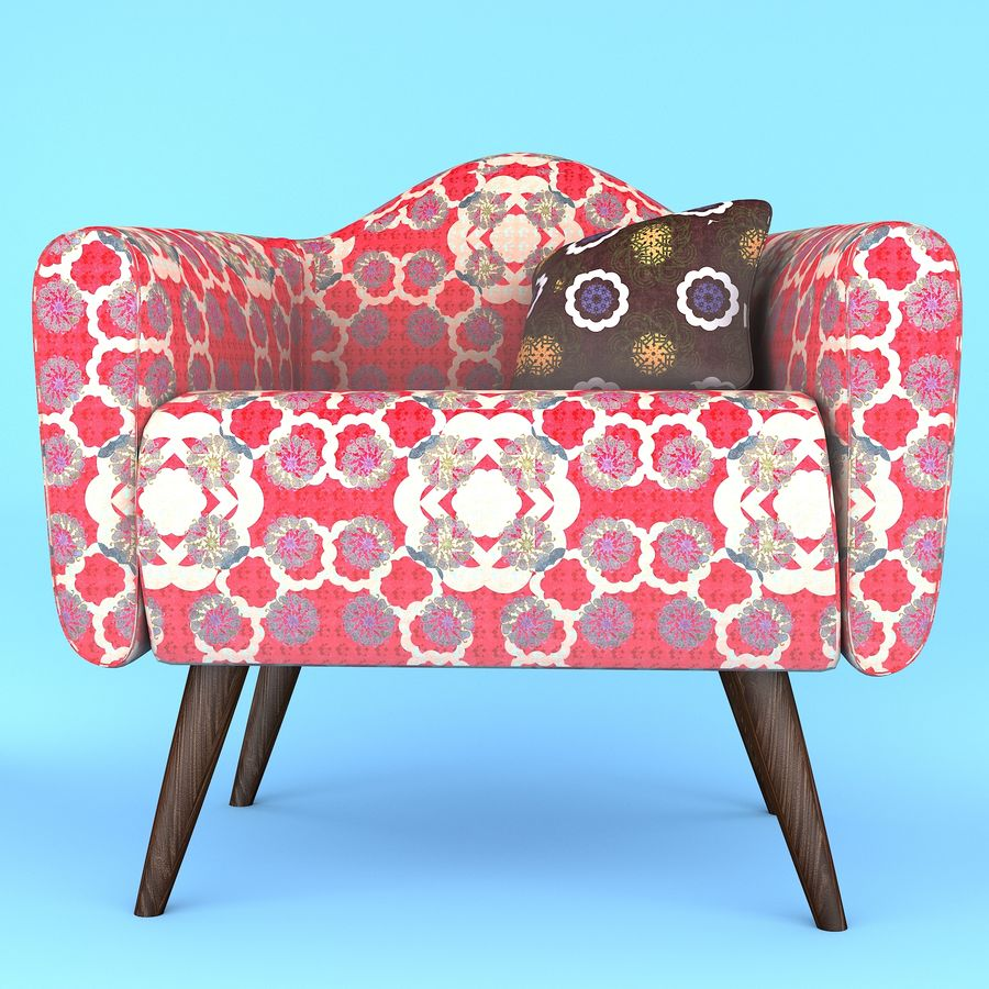 arm chair royalty-free 3d model - Preview no. 1