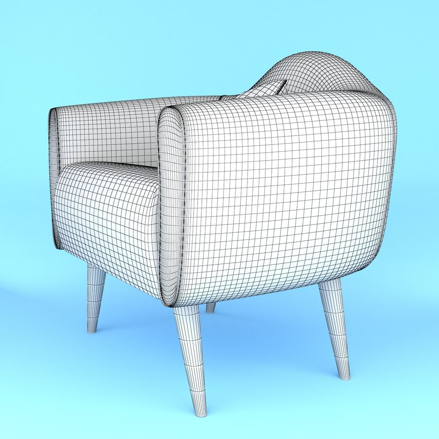 arm chair royalty-free 3d model - Preview no. 6