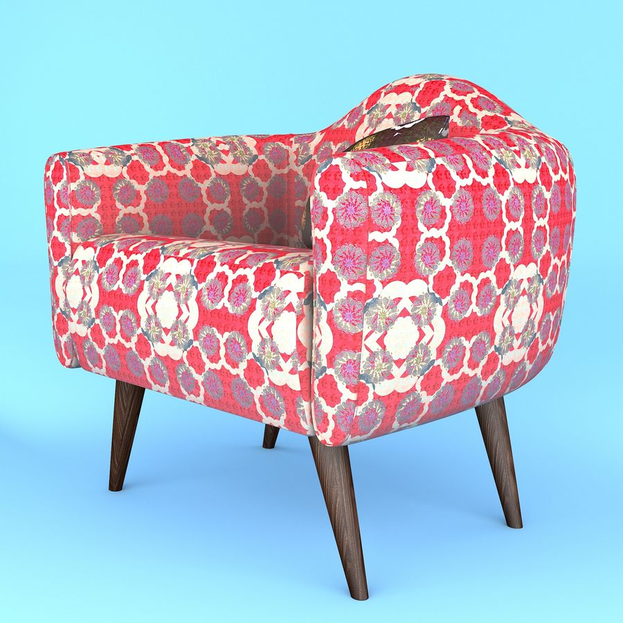arm chair royalty-free 3d model - Preview no. 2