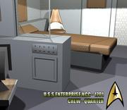 U.S.S. Enterprise - Crewquarter 3d model