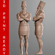 Daniel 2 Statue Sculpt 3D print ready 3d model