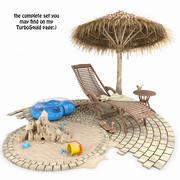 木製の長椅子 3d model