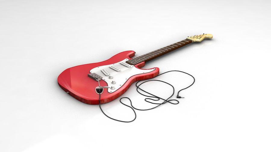 Electric Guitar Fender Stratocaster royalty-free 3d model - Preview no. 1